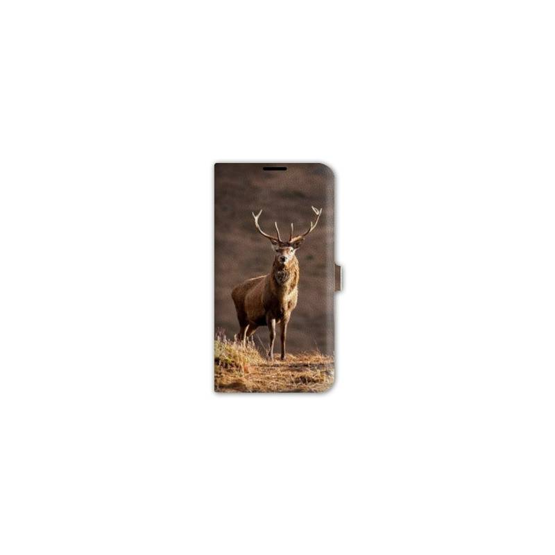 Housse cuir portefeuille pour iphone 6 / 6s chasse peche