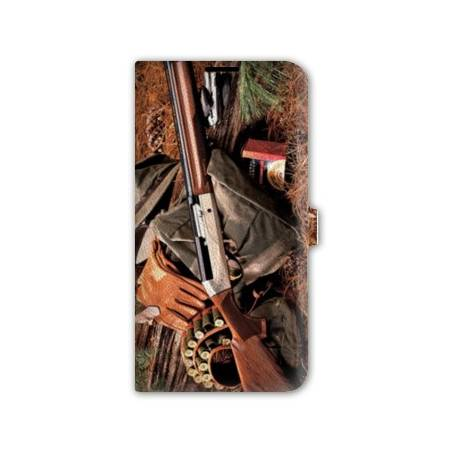 Housse cuir portefeuille Iphone 6 / 6s chasse peche