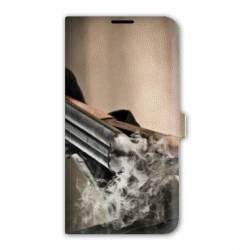 Housse cuir portefeuille Iphone 6 plus / 6s plus chasse peche