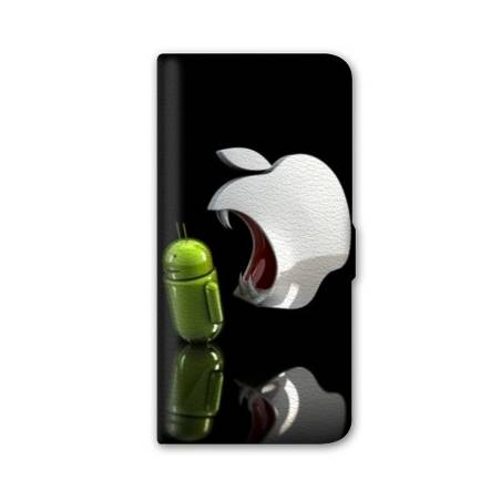 Housse cuir portefeuille Iphone 6 / 6s apple vs android