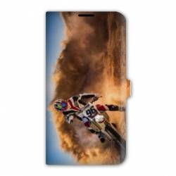 Housse cuir portefeuille Iphone 6 / 6s Moto