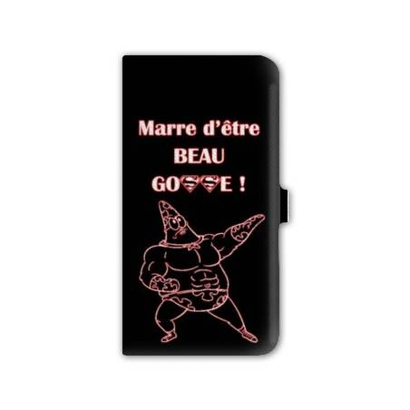 Housse cuir portefeuille Iphone 6 plus / 6s plus Humour