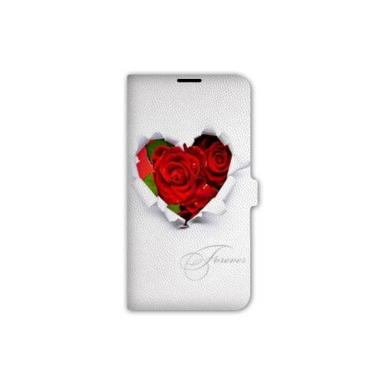 Housse cuir portefeuille Iphone 7 amour