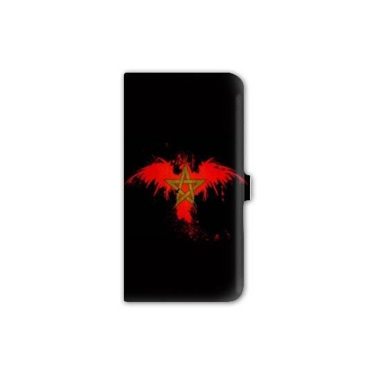 Housse cuir portefeuille Iphone 7 Maroc