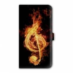 Housse cuir portefeuille Iphone 7 Musique