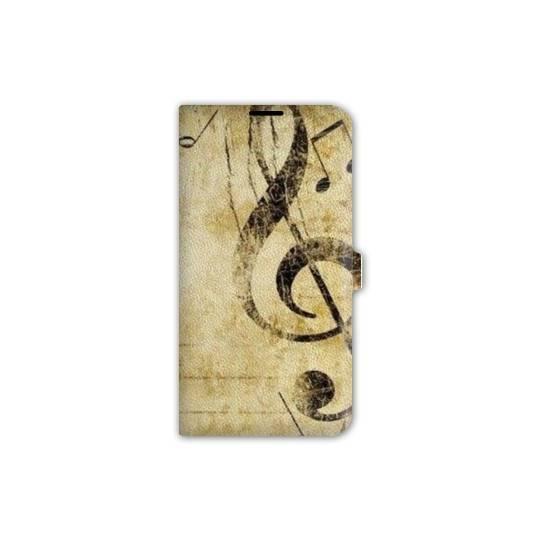 Housse cuir portefeuille pour iphone 7 Musique