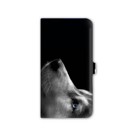 Housse cuir portefeuille Iphone 7 animaux