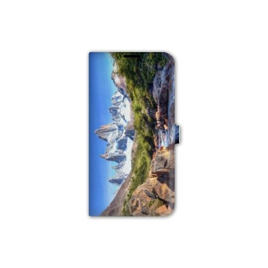 Housse cuir portefeuille pour iphone 7 Montagne