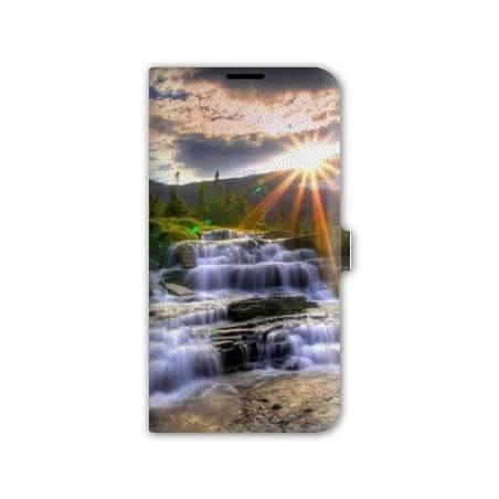 Housse cuir portefeuille Iphone 7 Montagne
