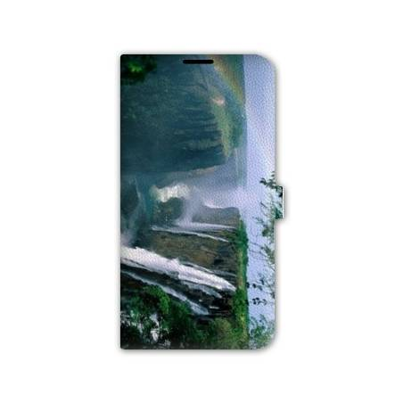 Housse cuir portefeuille Iphone 7 Montagne