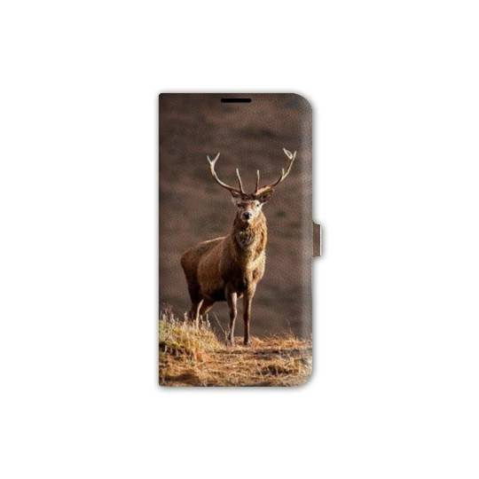 Housse cuir portefeuille pour iphone 7 chasse peche