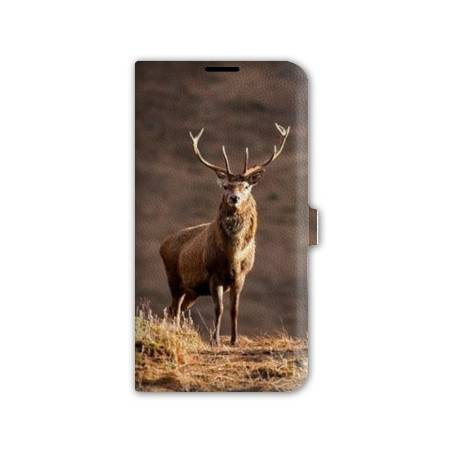 Housse cuir portefeuille Iphone 7 chasse peche