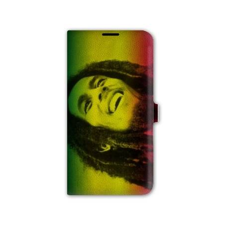 Housse cuir portefeuille Iphone 7 Bob Marley