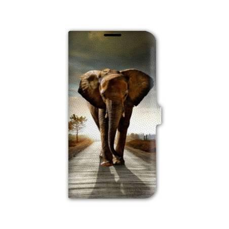Housse cuir portefeuille Iphone 7 savane