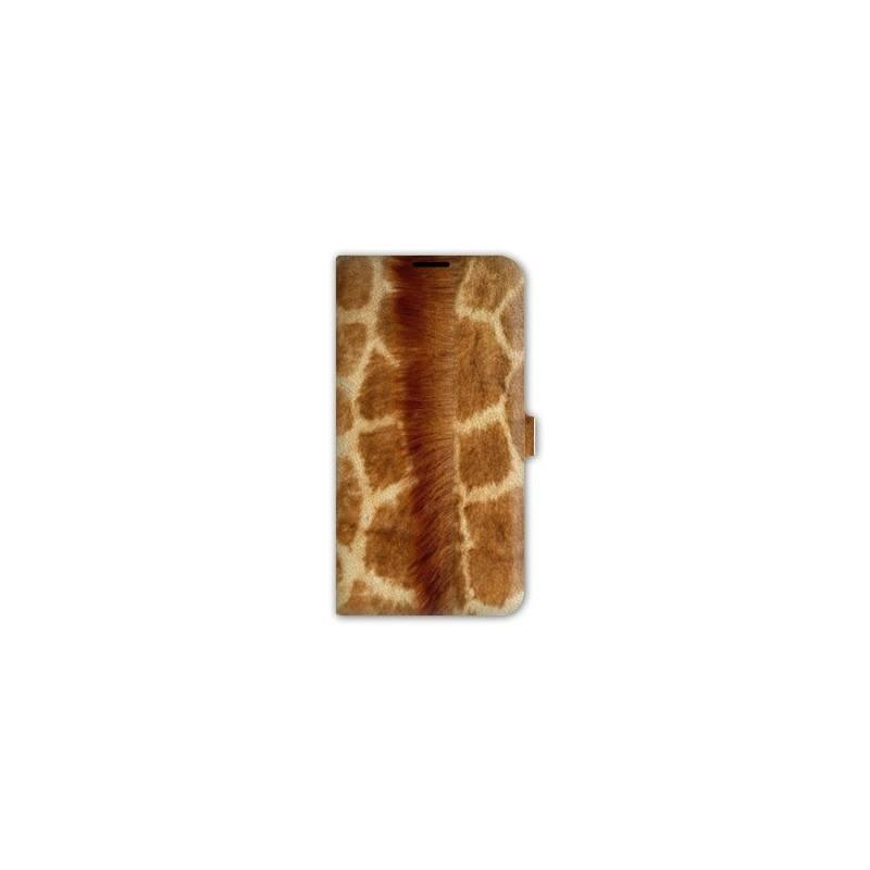 Housse cuir portefeuille pour iphone 7 savane