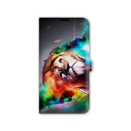 Housse cuir portefeuille Iphone 7 felins