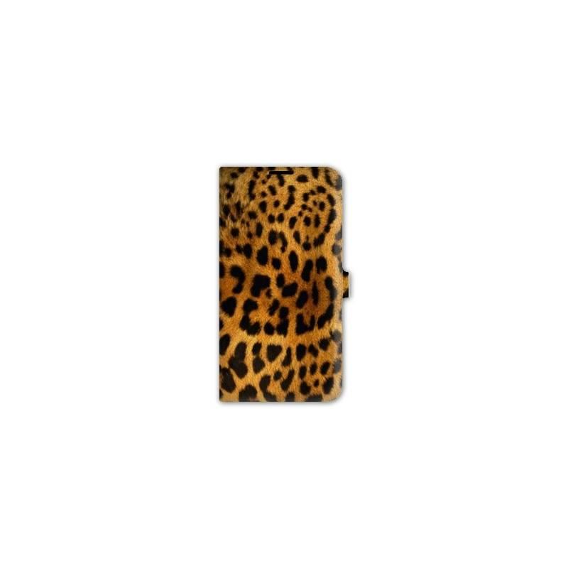 Housse cuir portefeuille pour iphone 7 felins