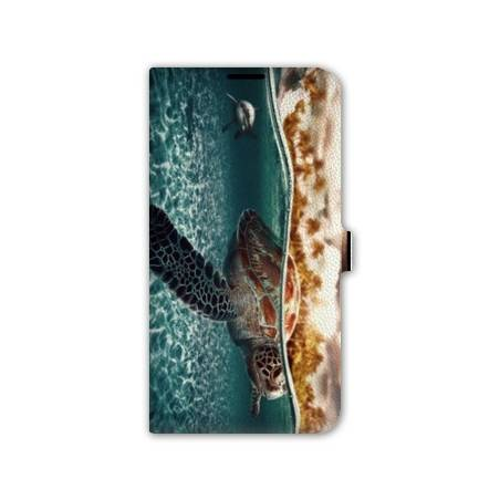 Housse cuir portefeuille Iphone 7 reptiles