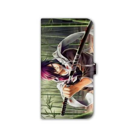 Housse cuir portefeuille Iphone 7 Manga - divers