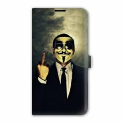 Housse cuir portefeuille Iphone 7 Anonymous
