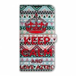 Housse cuir portefeuille Iphone 7 Keep Calm
