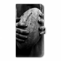 Housse cuir portefeuille Iphone 7 Rugby