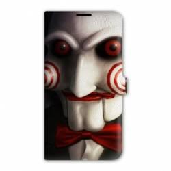 Housse cuir portefeuille Iphone 7 Horreur