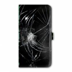 Housse cuir portefeuille Iphone 7 Trompe oeil