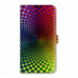 Housse cuir portefeuille Iphone 7 Effet Visuel