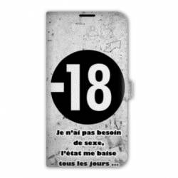 Housse cuir portefeuille Iphone 7 Humour