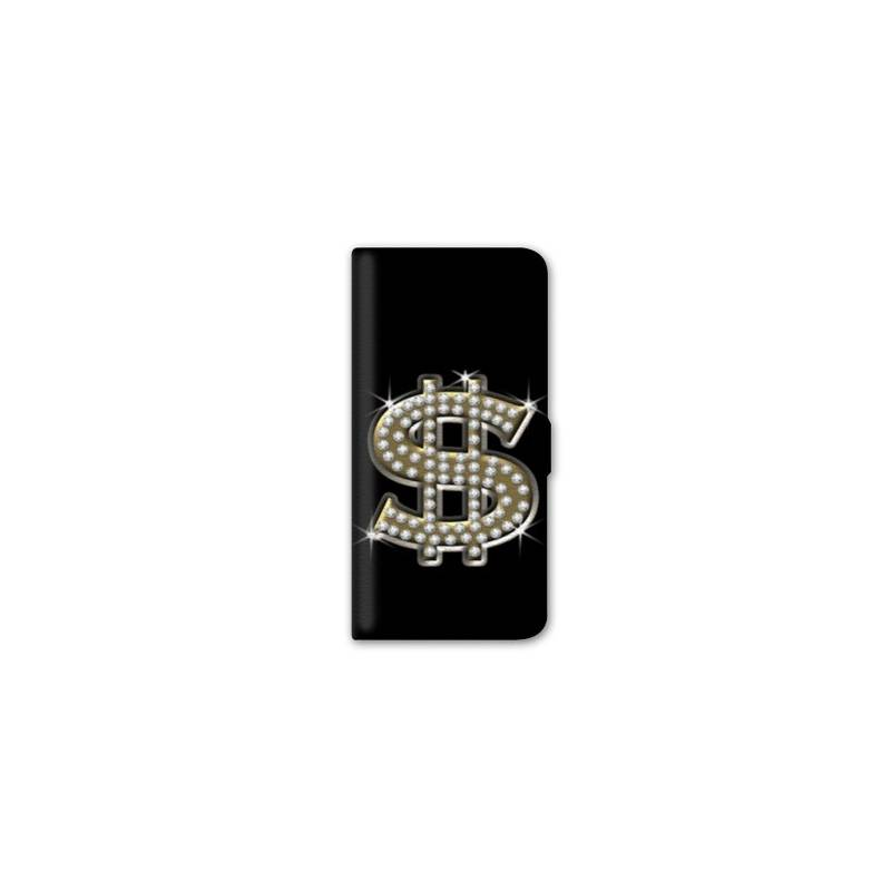 Housse cuir portefeuille iphone 7 money for Iphone housse cuir
