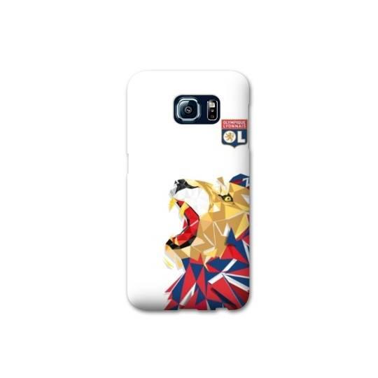 Coque Samsung Galaxy S6 Edge  License Olympique Lyonnais OL - lion color