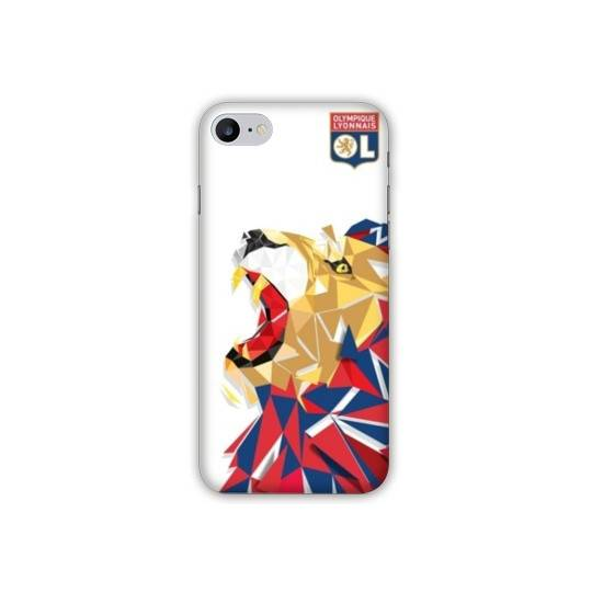 Coque Iphone 7 Plus  License Olympique Lyonnais OL - lion color