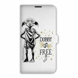 Housse cuir portefeuille Iphone 7 WB License harry potter dobby