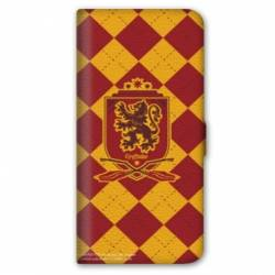 Housse cuir portefeuille Iphone 7 WB License harry potter ecole