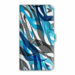 Housse cuir portefeuille iPhone 6 Plus / 6s Plus Etnic abstrait