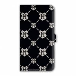 Housse cuir portefeuille Iphone 7 WB License harry potter pattern