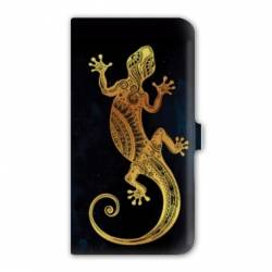 Housse cuir portefeuille Iphone 7 Animaux Maori
