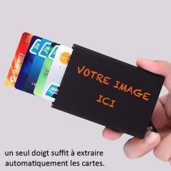 Porte carte Homme personnalisee en aluminium