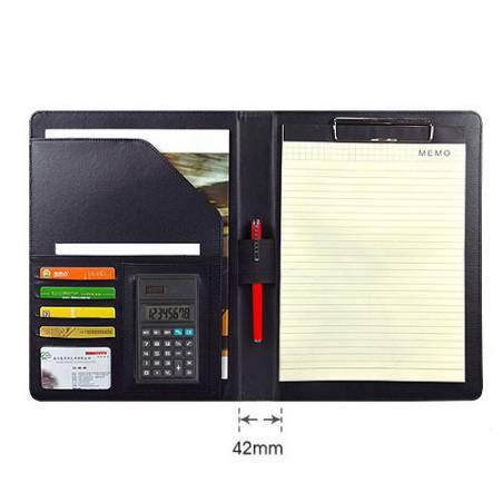 Conférencier / Porte document personnalisee en cuir