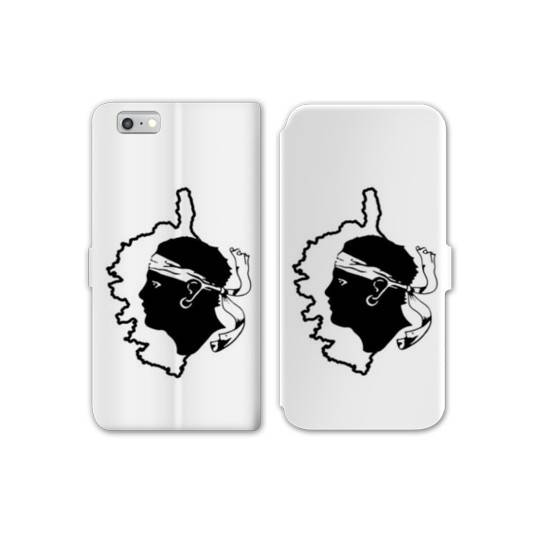 RV Housse cuir portefeuille Iphone 6 / 6s Corse