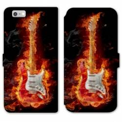 RV Housse cuir portefeuille Iphone 6 / 6s guitare