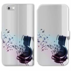 RV Housse cuir portefeuille Iphone 6 / 6s techno