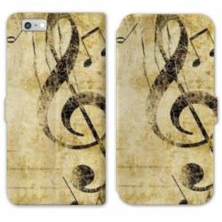 RV Housse cuir portefeuille Iphone 6 / 6s Musique