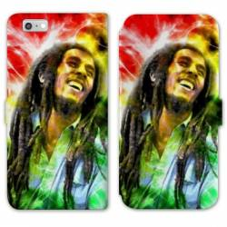 RV Housse cuir portefeuille Iphone 6 / 6s Bob Marley