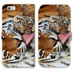 RV Housse cuir portefeuille Iphone 6 / 6s felins