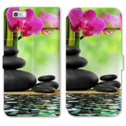 RV Housse cuir portefeuille Iphone 6 / 6s Zen