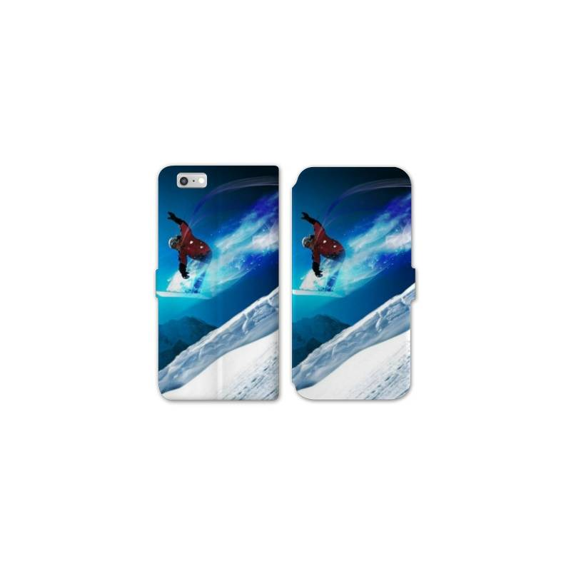 Rv housse cuir portefeuille iphone 6 6s sport glisse for Housse portefeuille iphone 6