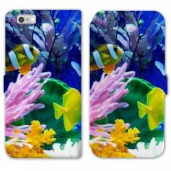 RV Housse cuir portefeuille Iphone 6 / 6s Mer