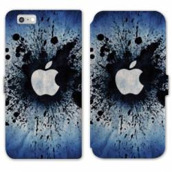 RV Housse cuir portefeuille Iphone 6 / 6s apple vs android